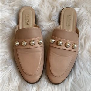 Shoes - Pink pearl studded mules